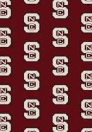 North Carolina State Wolfpack College Repeat Area Rug