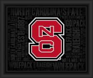 North Carolina State Wolfpack College Word Cloud