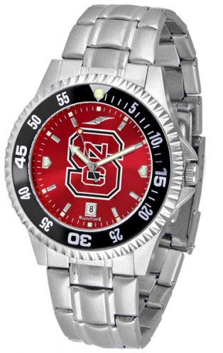 North Carolina State Wolfpack Competitor Steel AnoChrome Color Bezel Men's Watch