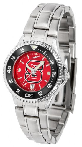 North Carolina State Wolfpack Competitor Steel AnoChrome Women's Watch - Color Bezel