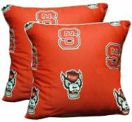 North Carolina State Wolfpack Decorative Pillow Set