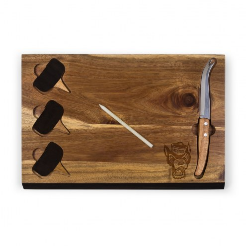 North Carolina State Wolfpack Delio Bamboo Cheese Board & Tools Set