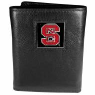North Carolina State Wolfpack Deluxe Leather Tri-fold Wallet in Gift Box