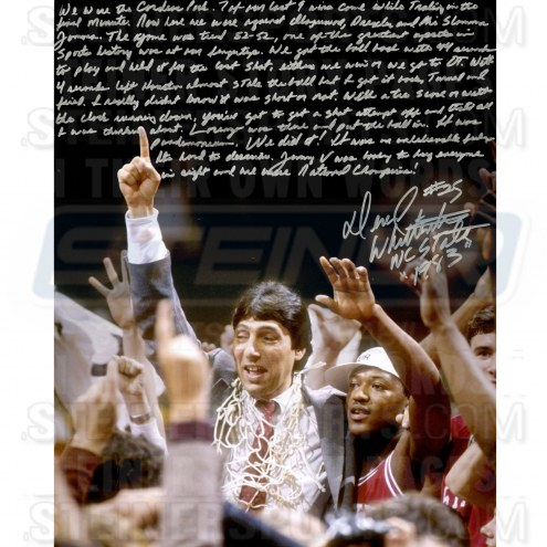 "North Carolina State Wolfpack Dereck Whitenburg NCAA Championship Win Story Signed 16"" x 20"" Photo"