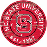 North Carolina State Wolfpack Distressed Round Sign
