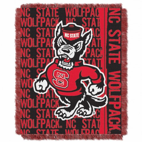 North Carolina State Wolfpack Double Play Woven Throw Blanket