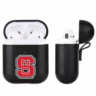 North Carolina State Wolfpack Fan Brander Apple Air Pods Leather Case