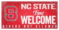 North Carolina State Wolfpack Fans Welcome Sign