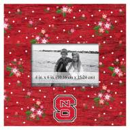 """North Carolina State Wolfpack Floral 10"""" x 10"""" Picture Frame"""