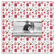 """North Carolina State Wolfpack Floral Pattern 10"""" x 10"""" Picture Frame"""