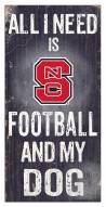 North Carolina State Wolfpack Football & My Dog Sign