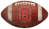North Carolina State Wolfpack Football Shaped Sign