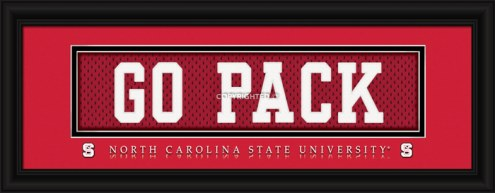 """North Carolina State Wolfpack """"Go Pack"""" Stitched Jersey Framed Print"""