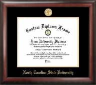 North Carolina State Wolfpack Gold Embossed Diploma Frame