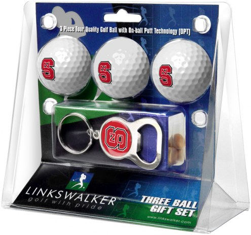 North Carolina State Wolfpack Golf Ball Gift Pack with Key Chain