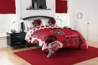 North Carolina State Wolfpack Hexagon Full/Queen Comforter & Shams Set