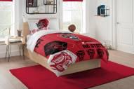 North Carolina State Wolfpack Hexagon Twin Comforter & Sham Set