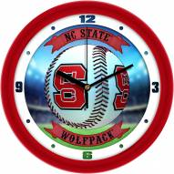 North Carolina State Wolfpack Home Run Wall Clock