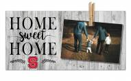 North Carolina State Wolfpack Home Sweet Home Clothespin Frame
