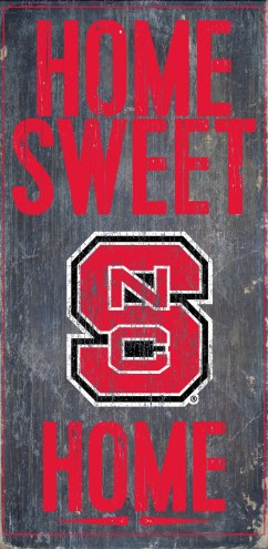 North Carolina State Wolfpack Home Sweet Home Wood Sign