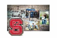 North Carolina State Wolfpack I Love My Family Clip Frame
