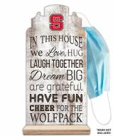 North Carolina State Wolfpack In This House Mask Holder