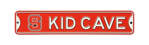 North Carolina State Wolfpack Kid Cave Street Sign
