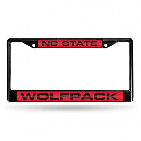 North Carolina State Wolfpack Laser Black License Plate Frame