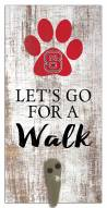 North Carolina State Wolfpack Leash Holder Sign