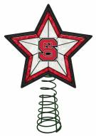 North Carolina State Wolfpack Light Up Art Glass Tree Topper
