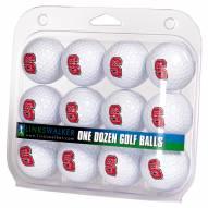 North Carolina State Wolfpack Dozen Golf Balls