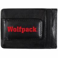 North Carolina State Wolfpack Logo Leather Cash and Cardholder