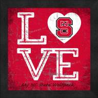 North Carolina State Wolfpack Love My Team Color Wall Decor