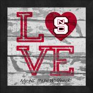 North Carolina State Wolfpack Love My Team Square Wall Decor