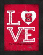 North Carolina State Wolfpack Love My Team Vertical Color Wall Decor