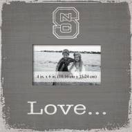 North Carolina State Wolfpack Love Picture Frame