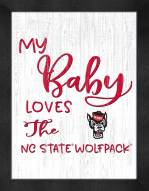North Carolina State Wolfpack My Baby Loves Framed Print