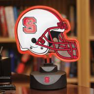 North Carolina State Wolfpack Neon Helmet Desk Lamp