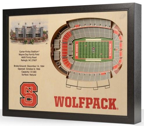 North Carolina State Wolfpack 25-Layer StadiumViews 3D Wall Art