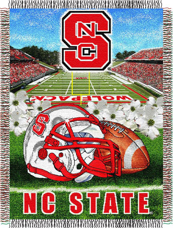 North Carolina State Wolfpack NCAA Woven Tapestry Throw / Blanket