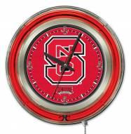 North Carolina State Wolfpack Neon Clock