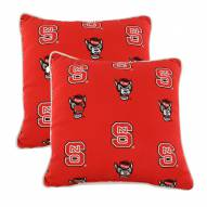 North Carolina State Wolfpack Outdoor Decorative Pillow Set