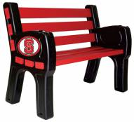 North Carolina State Wolfpack Park Bench