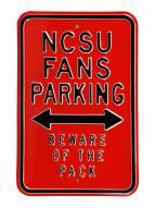 North Carolina State Wolfpack Parking Sign