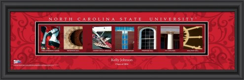North Carolina State Wolfpack Personalized Campus Letter Art