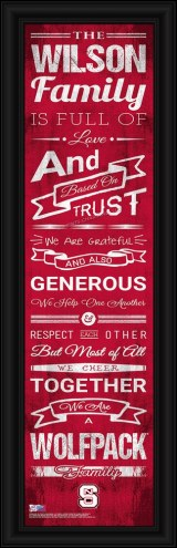 North Carolina State Wolfpack Personalized Family Cheer Framed Art