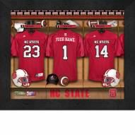 North Carolina State Wolfpack Personalized Locker Room 11 x 14 Framed Photograph