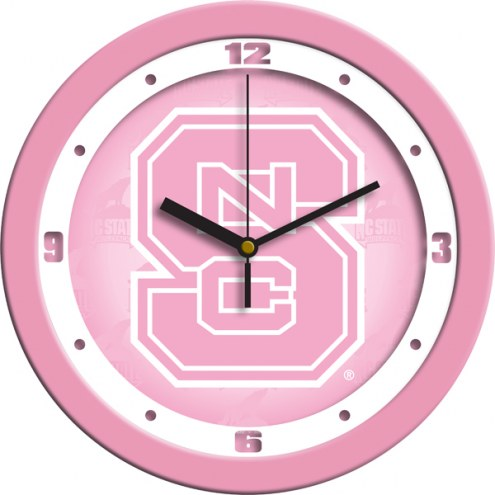 North Carolina State Wolfpack Pink Wall Clock
