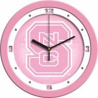 North Carolina State Wolfpack Pink Wall Clock