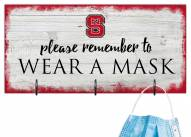 North Carolina State Wolfpack Please Wear Your Mask Sign